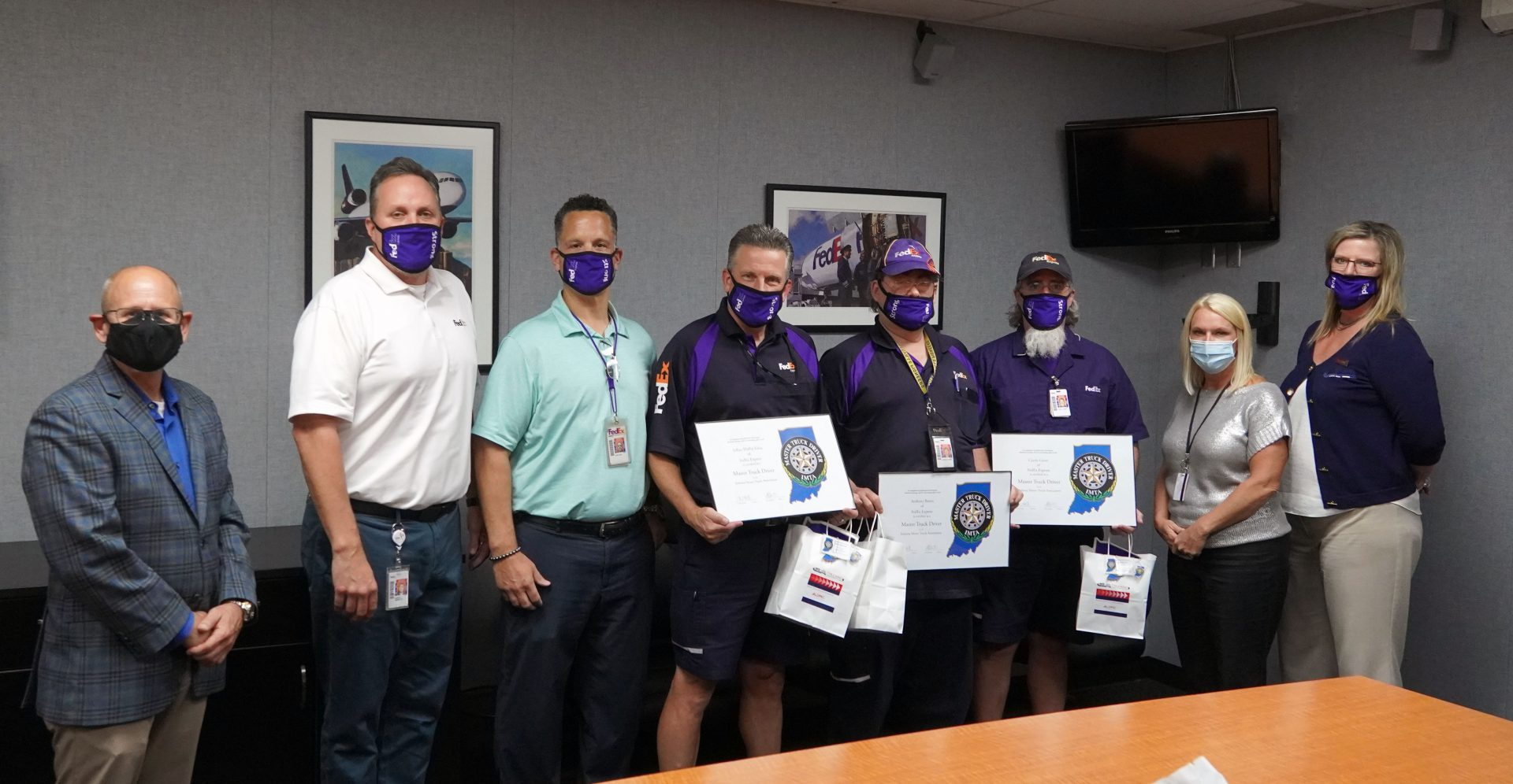 FedEx Express Drivers Certified Master Truck Drivers