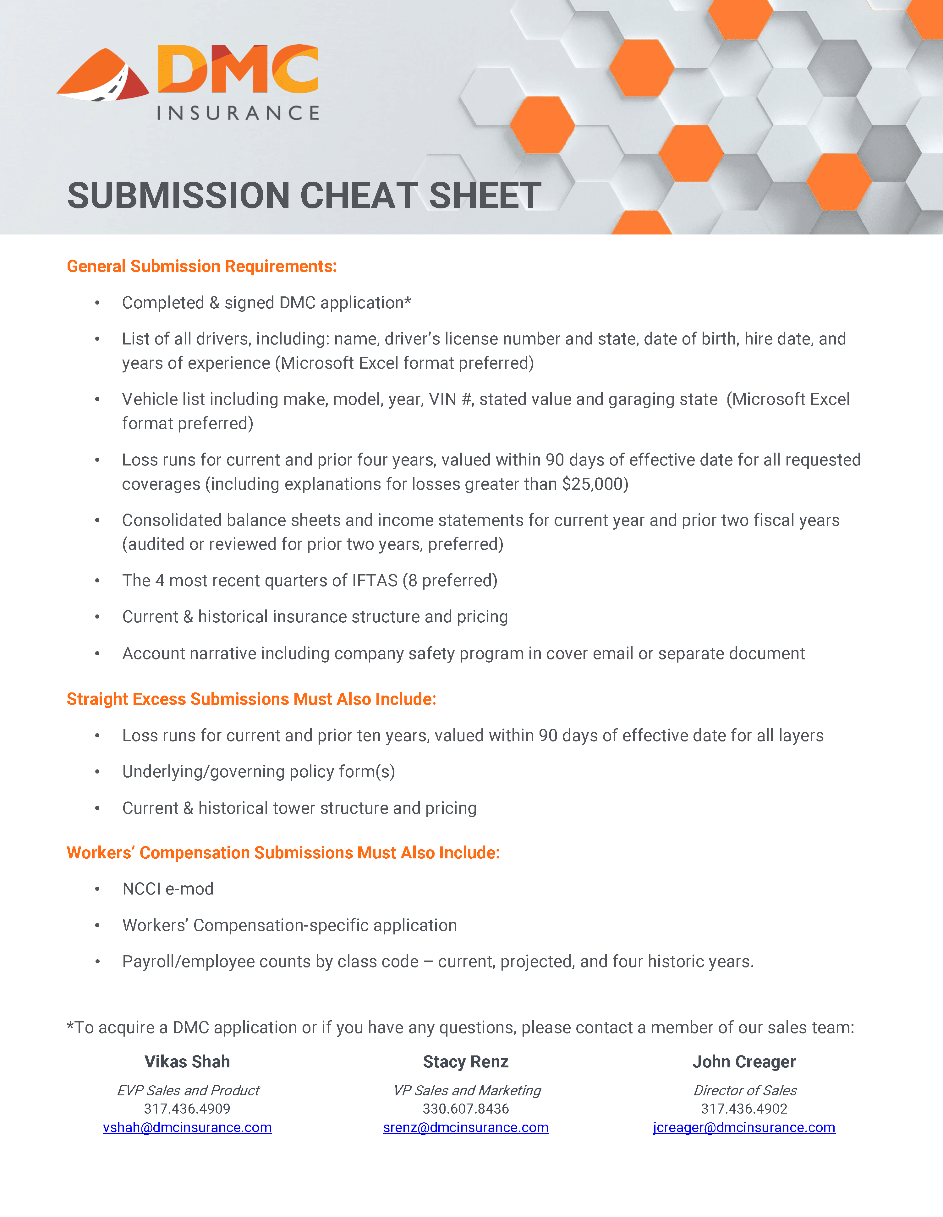 Submission Cheat Sheet